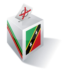Wahlbox St Kitts und Nevis