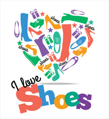 Shoes sale background