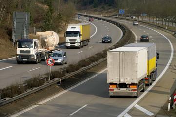 Fototapete - Viel Verkehr
