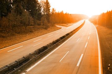 Fototapete - Eine freie Autobahn