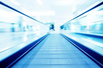 moving flat escalator indoor