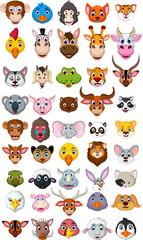big animal head cartoon collection