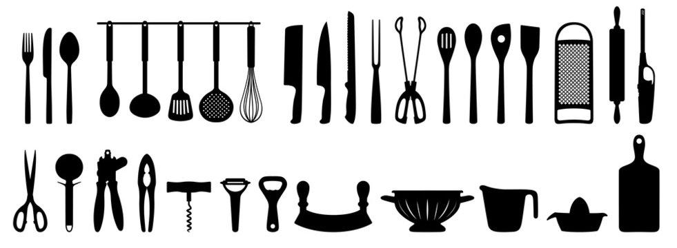 Küchenhelfer Silhouetten Set