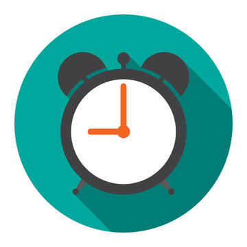 Alarm Clock in flat vector illustration