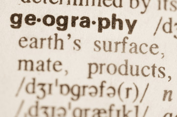 Dictionary definition of word geography