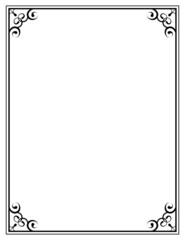black ornate frame on a white background
