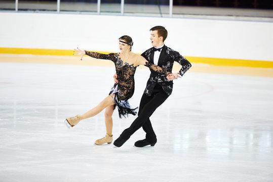 figure skating at sports arena