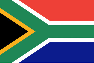 South African vector flag.