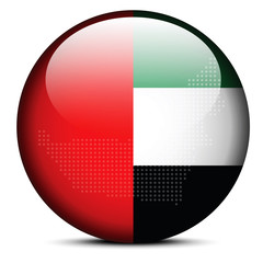 Map with Dot Pattern on flag button of United Arab Emirates