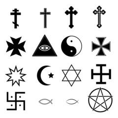 Religious Icons Set