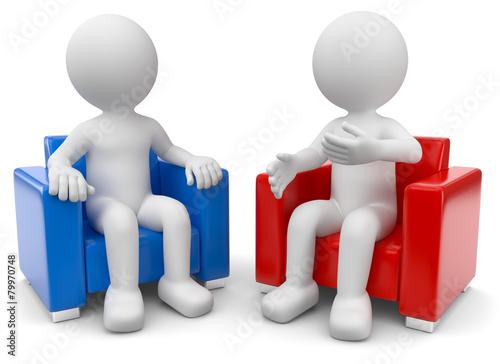 zwei 3d m nnchen diskutieren stockfotos und lizenzfreie bilder auf bild 79970748. Black Bedroom Furniture Sets. Home Design Ideas