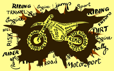 Grunge motocross newspaper