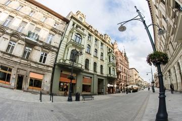 Fotomurales - Ulica Piotrkowska w Łodzi