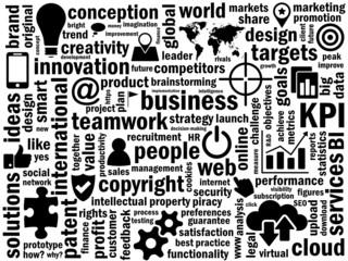 BUSINESS Tag & Symbol Cloud (innovation KPI quality)