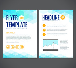 Vector template design, flyer, brochure, cover, page
