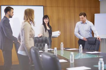 Business-Meeting im Besprechungszimmer