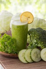 Kale, cucumber,  and broccoli juice