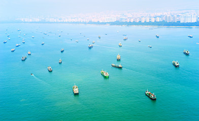 Foto op Canvas Singapore Singapore shipping