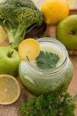 Apple, broccoli, Celery juice mix