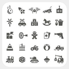 Toy icons set