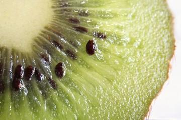 Closeup of actinidia deliciosa or fuzzy Kiwifruit