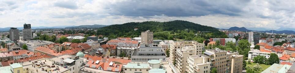 Panorama of Ljubljana, capital of Slovenia