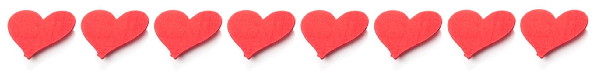 Rote Herzen, Reihe