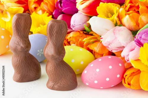 кролик с тюльпанами  № 1144667 без смс
