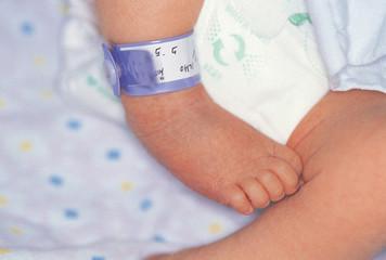 아기와 이름표