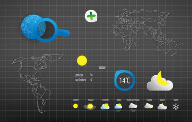 WORLD WEATHER VECTOR