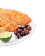 Fried salmon fillet