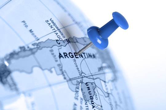 Location Argentina. Blue pin on the map.