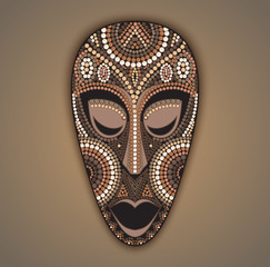 Vector colorful african mask.