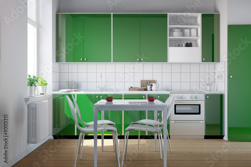 gr ne k chenzeile in k che stockfotos und lizenzfreie bilder auf bild 80013315. Black Bedroom Furniture Sets. Home Design Ideas