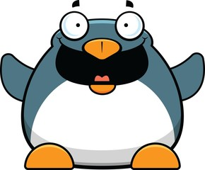 Cartoon Penguin Happy