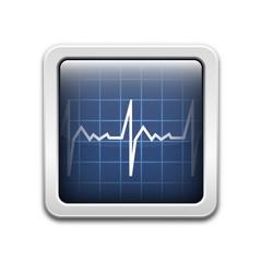 Vector diagnostic monitor icon