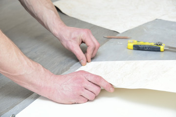 cutting wallpapers