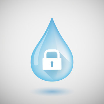 Water drop with a lock pad