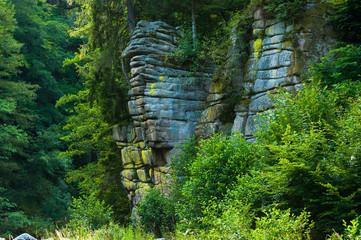 Wall Mural - Fels am Fluss Murg, Forbach