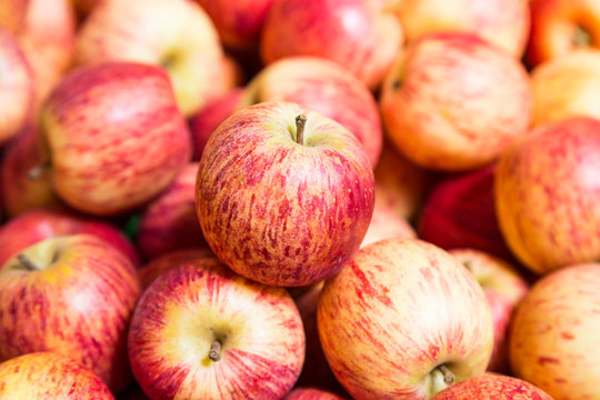 Stack of red apples