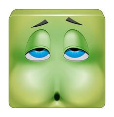 Square emoticon nausea
