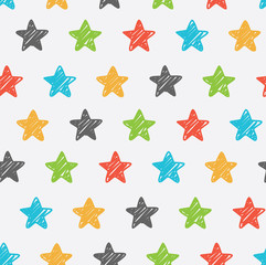 Sketchy star seamless background
