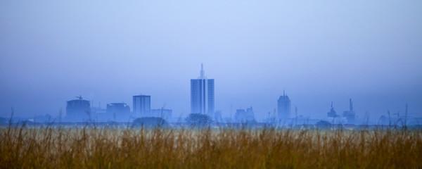 nairobi skyline before dawn