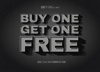 BOGO, buy one get one free ad