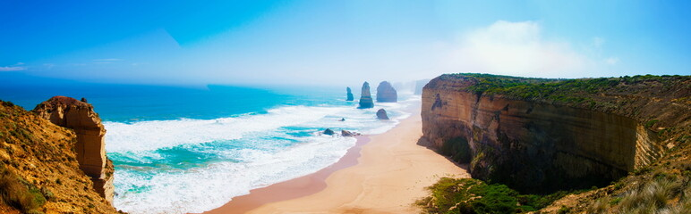 Poster Australia The Twelve Apostles on Great Ocean Road, Victoria, Australia
