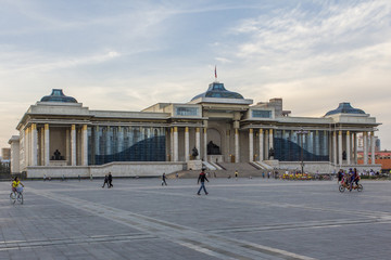 Government Palace with Genghis Khan statue