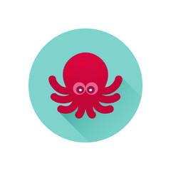Vector octopus icon