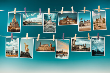 Photographs of Dresden, toned collage