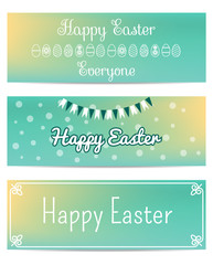 Set of banners for Easter vector