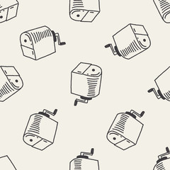 Doodle Pencil sharpeners seamless pattern background